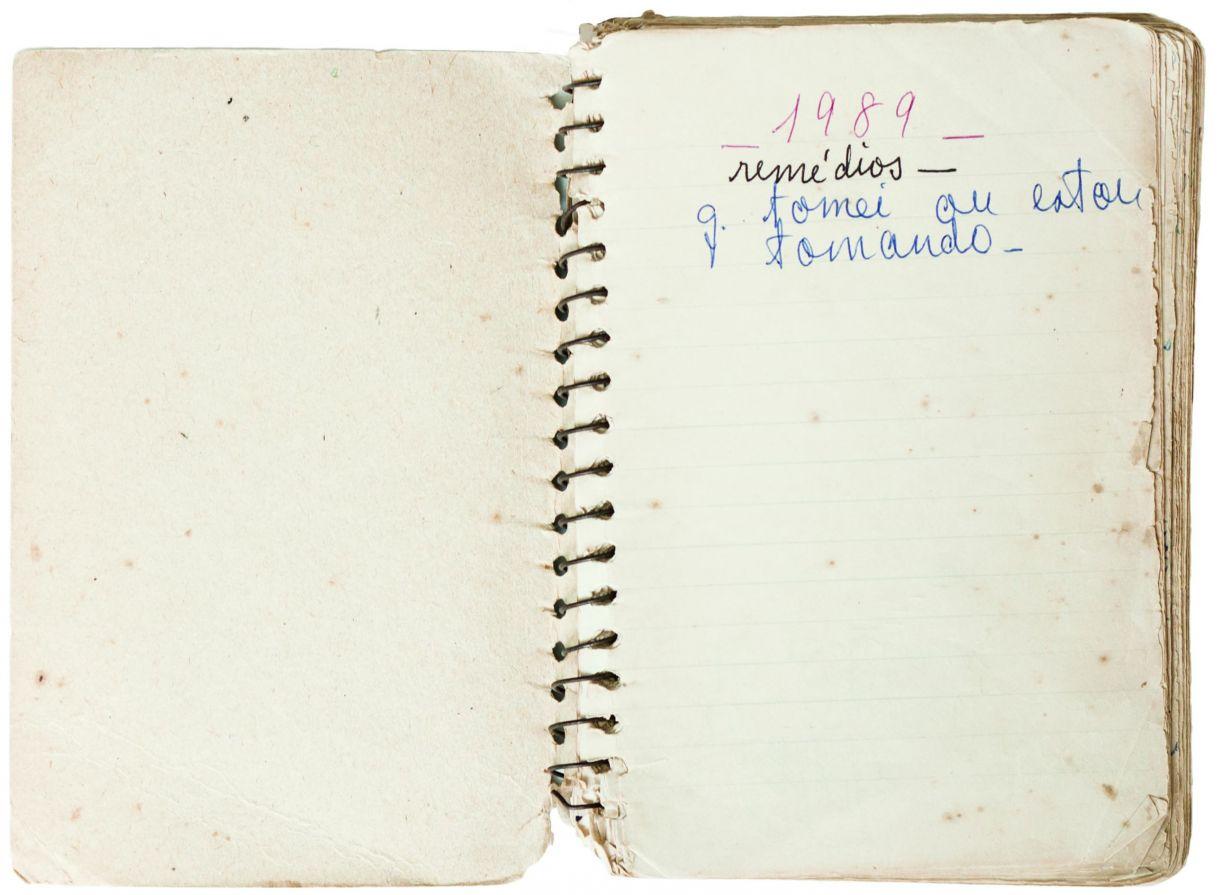 Reprodução do diário da avó da artista, lembrança que fomentou sua obra