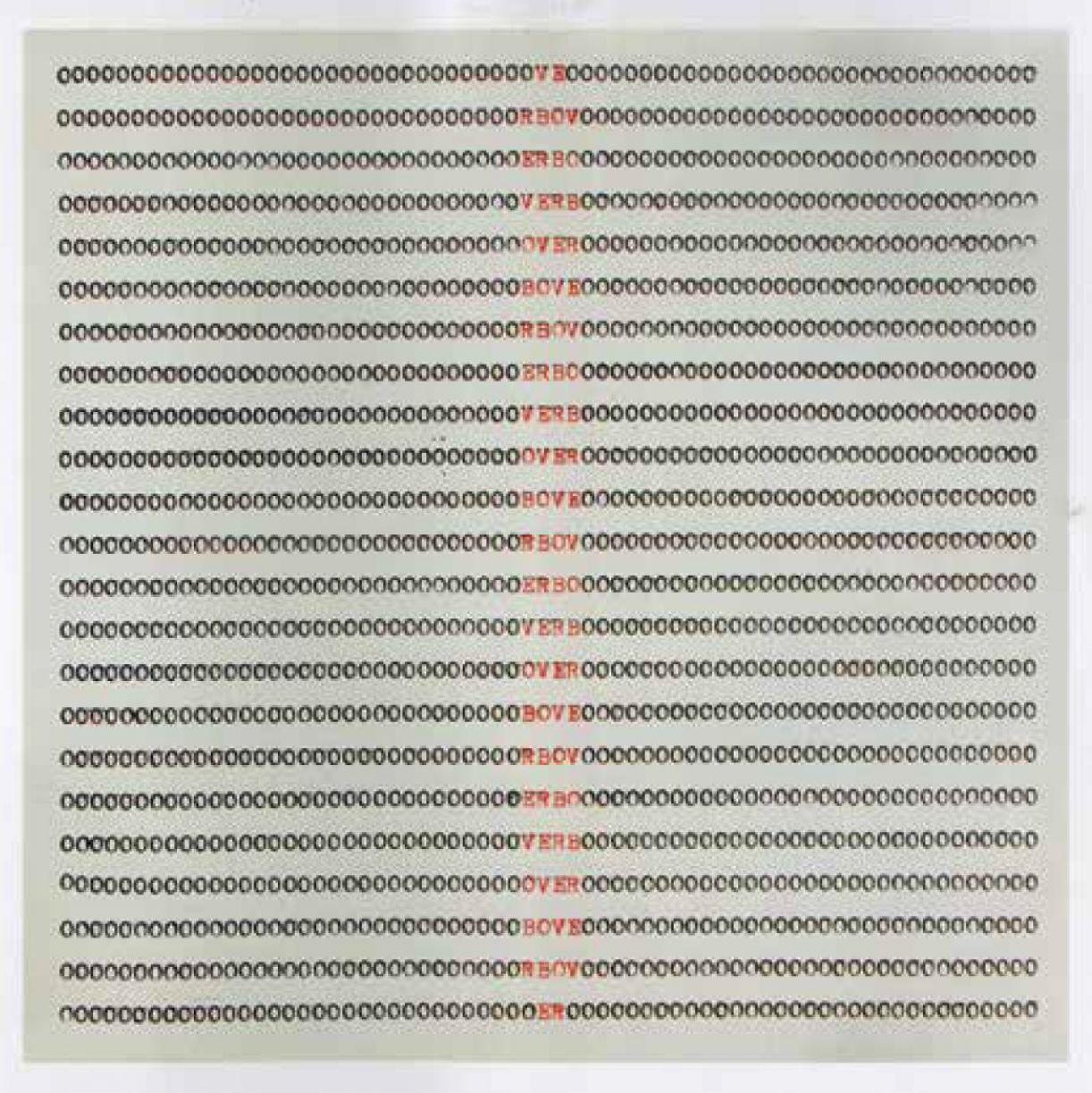 Obra 'Verbo 1', de Gabriel Petribú. 105cm x 105cm. Reprodução em papel. 2013