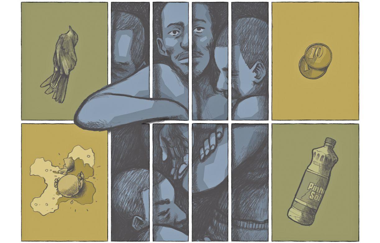 Parte de um dos trabalhos que compõem o encarte do Mutirão