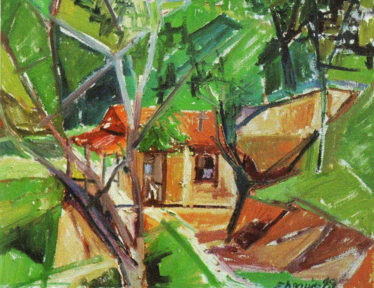 'Casa do sítio', óleo sobre tela, 55 x 70 cm, 1989