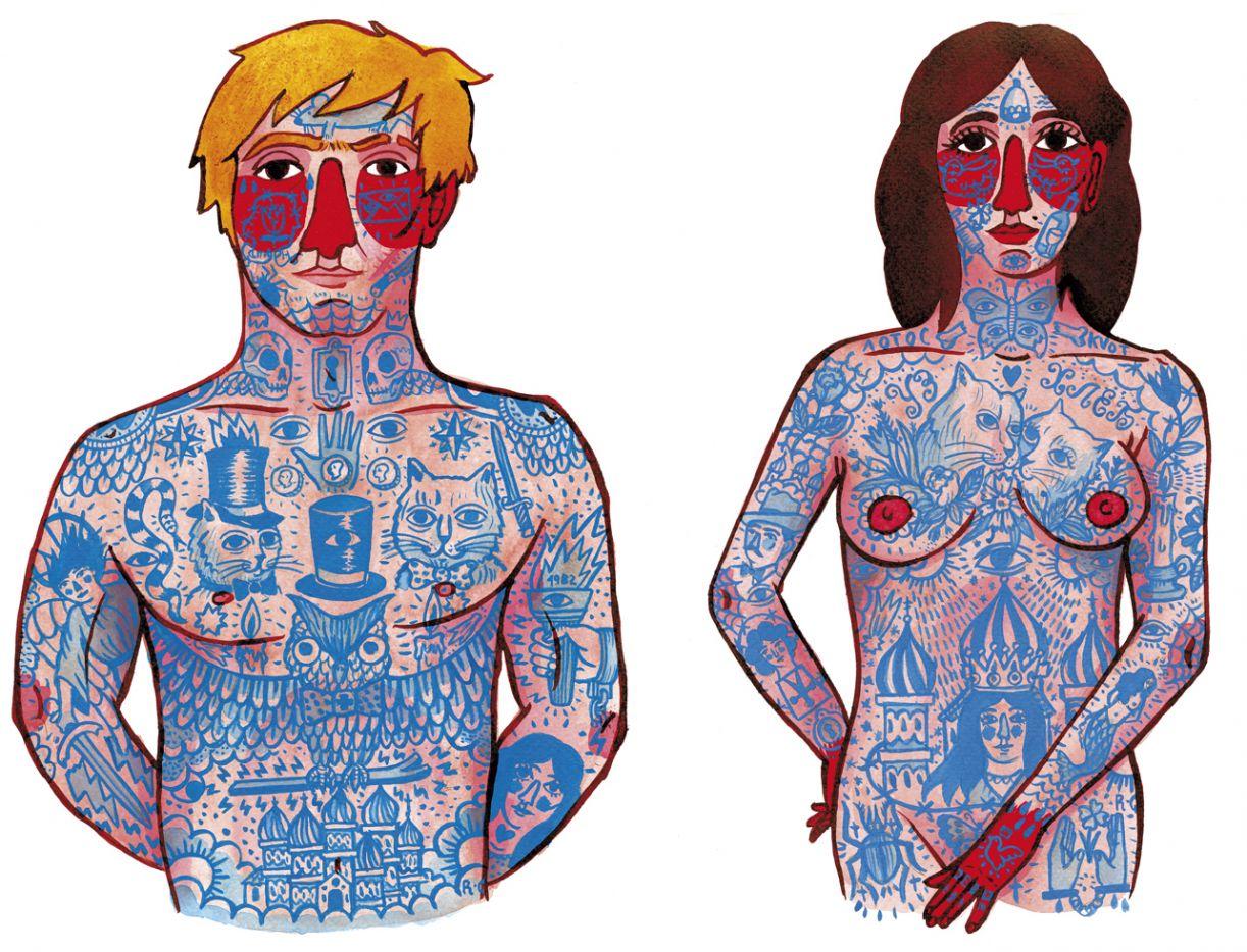 'Tatuagens', série de desenhos com personagens russos