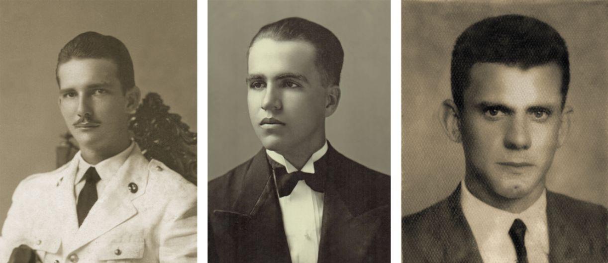 Retratos históricos de Armando Monteiro, Pelópidas Silveira e Carlos Garcia