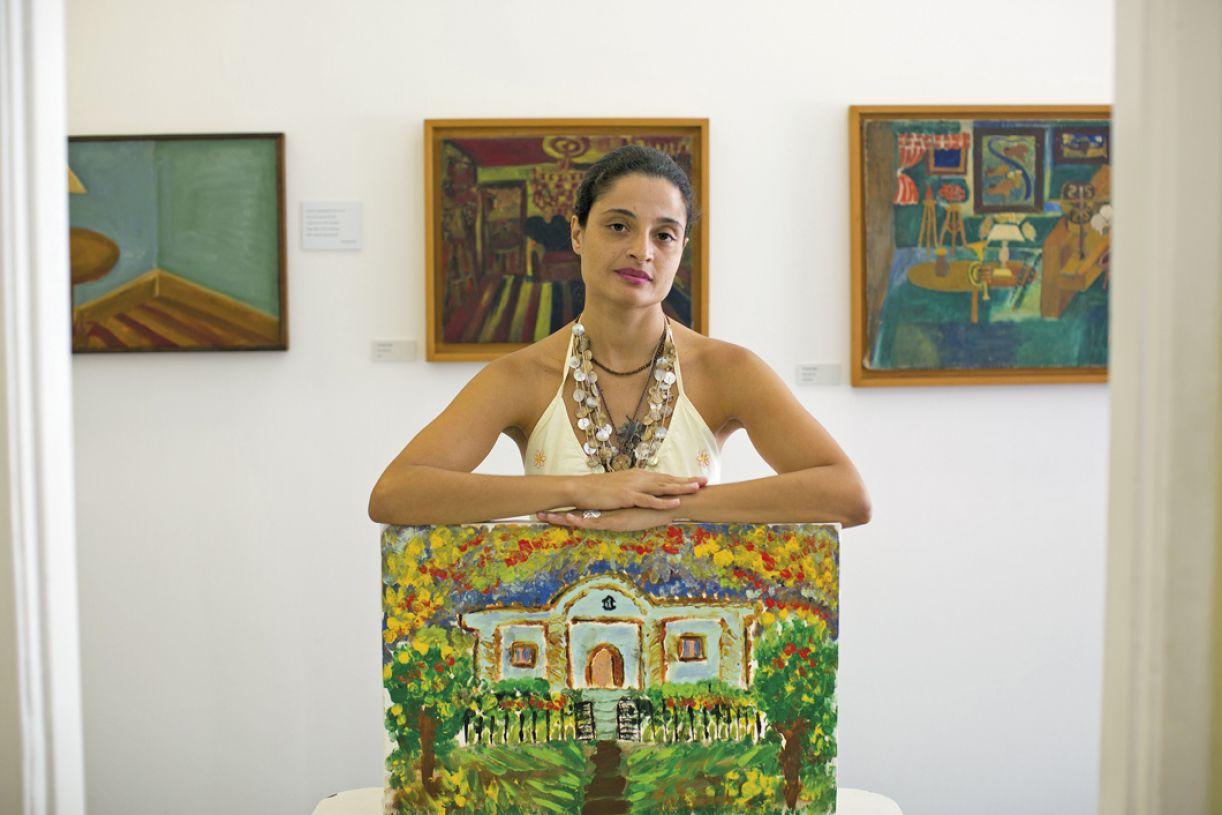 Renata Inocêncio, uma das clientes mais jovens do museu, teve obras premiadas