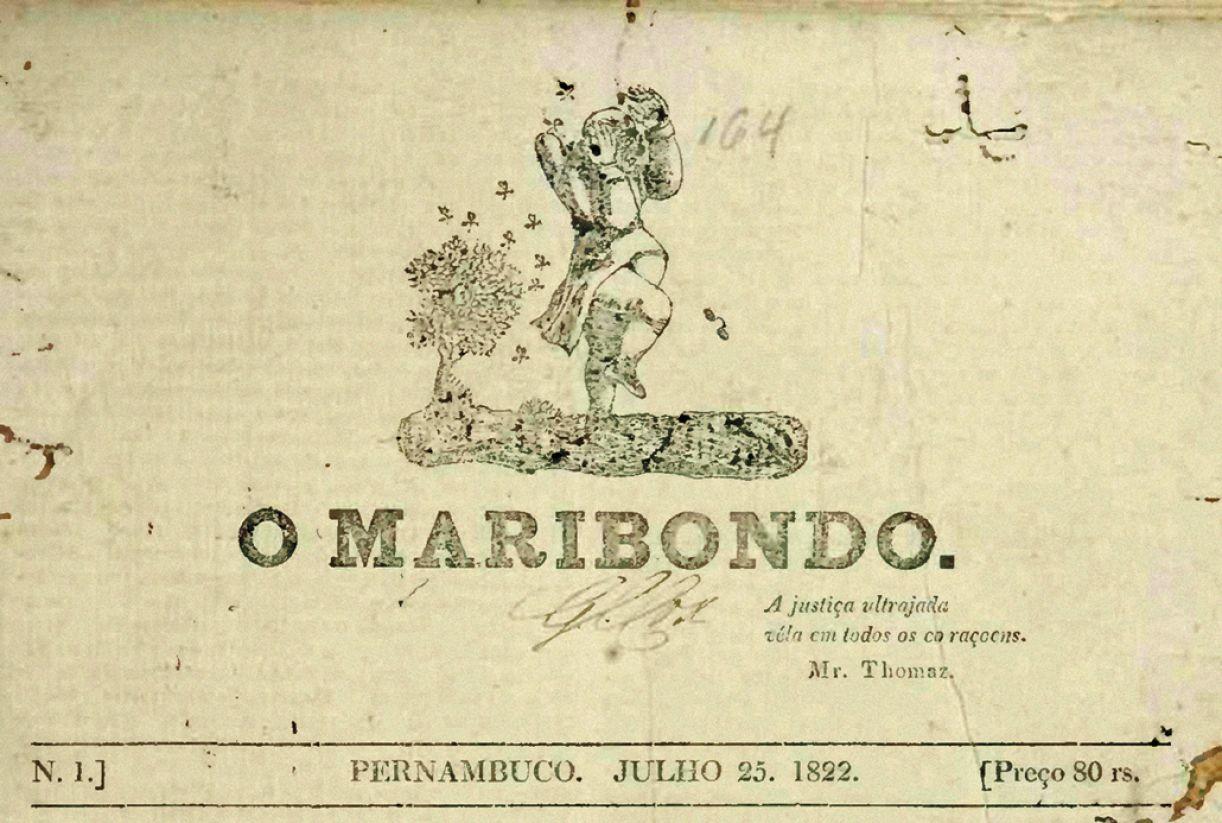 Jornal O Maribondo foi publicado no Recife em 1822, ano da Independência