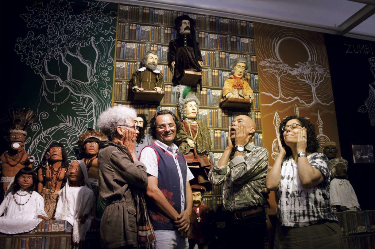 Fátima Caio, Marcondes Lima, Fábio Caio e Carla Denise, fundadores do Mão Molenga