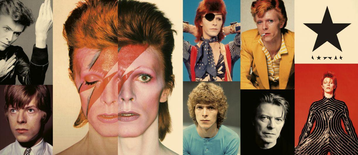 As diversas de faces que Bowie, em sua vida-arte, assumiu ao longo do tempo