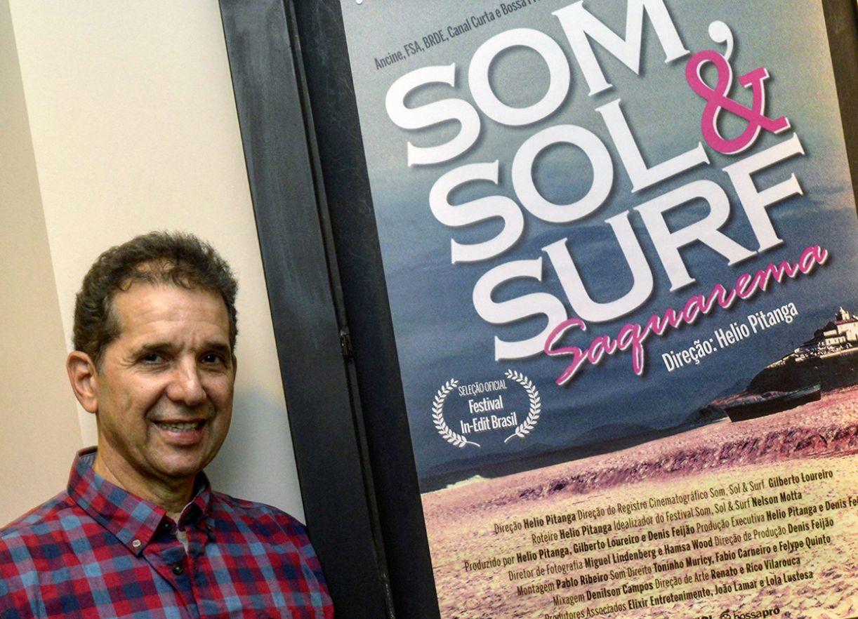 O cineasta Helio Pitanga recebeu o material do Gilberto Loureiro, que dirigiu equipe de filmagem no festival