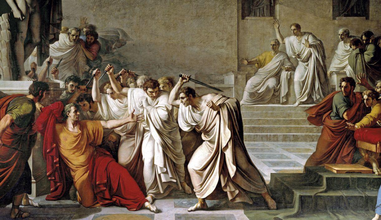 'Morte de Júlio César', por Vicenzo Camuccini, 1798