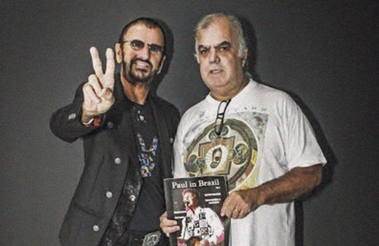 Mallagoli já assistiu a mais de 30 shows do baterista Ringo Starr, com quem esteve por duas vezes