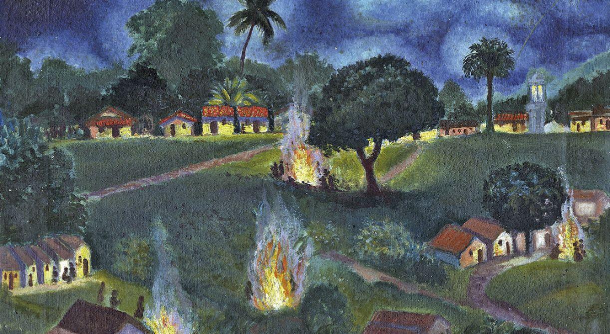 'Noite de São João', óleo sobre tela. 34 x 44 cm, 1946