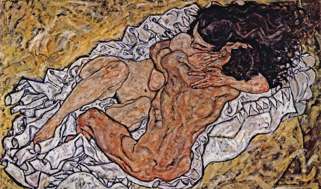 'Pair Embracing' (1917)