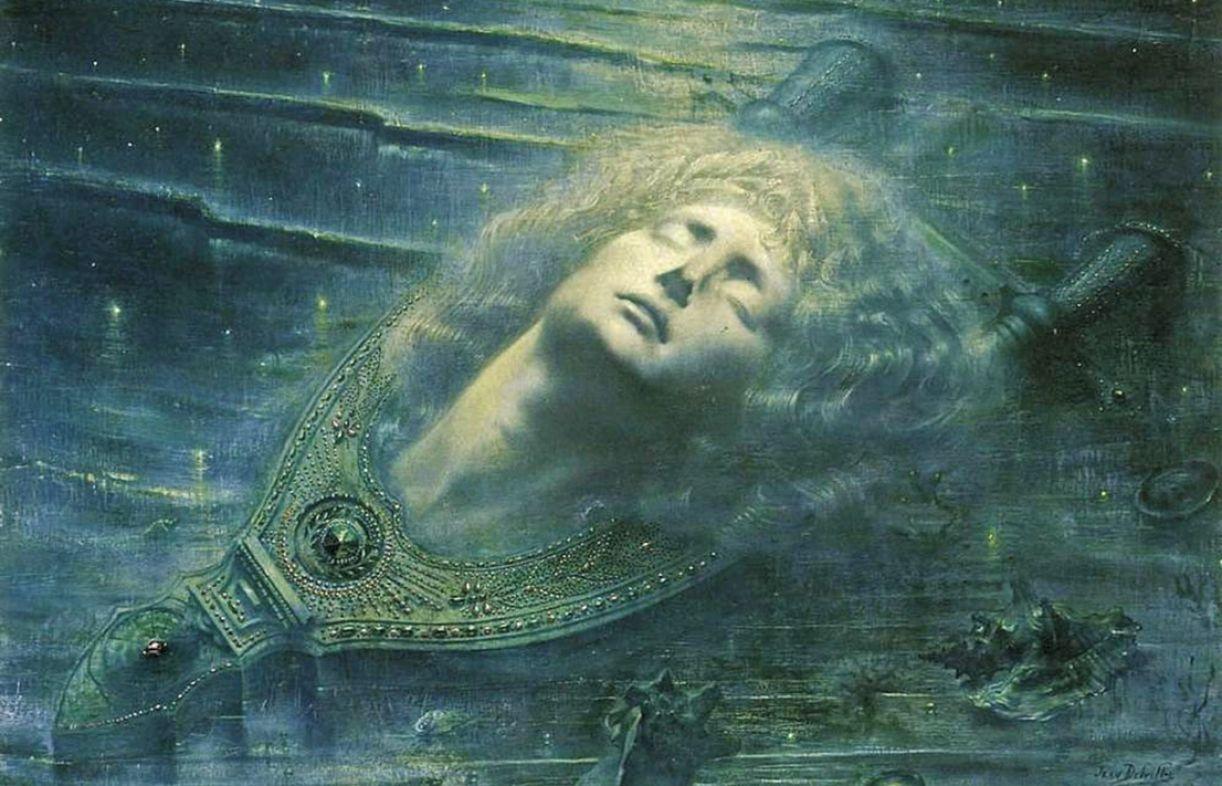 Pintura simbolista do belga Jean DelVille interpreta o mito do herói grego, patrono da música e da poesia