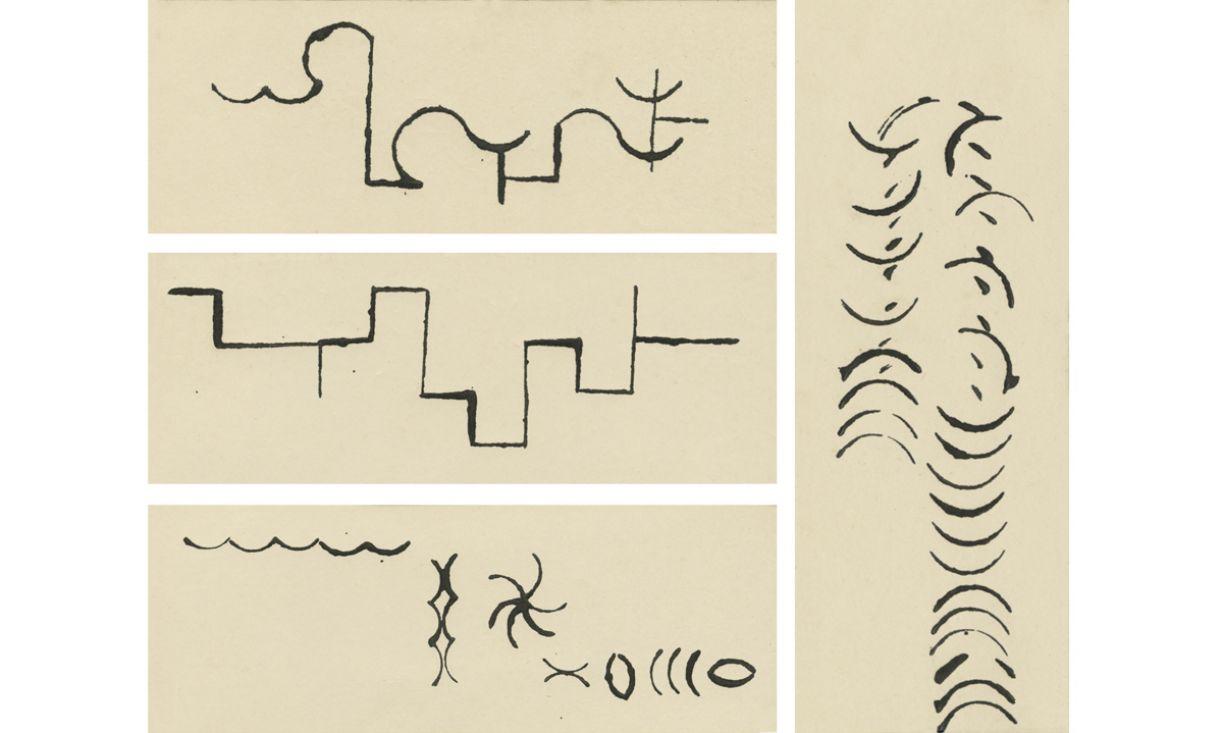 Desenhos de carimbos de Arnaldo Pedrosa d'Horta, 1968