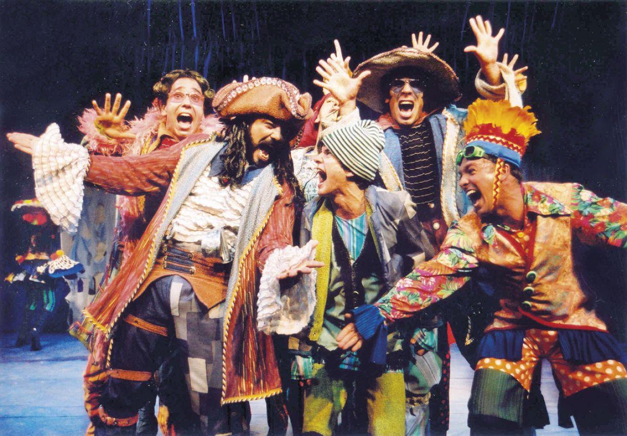 A montagem de 'A ilha do tesouro' foi destaque em 2002