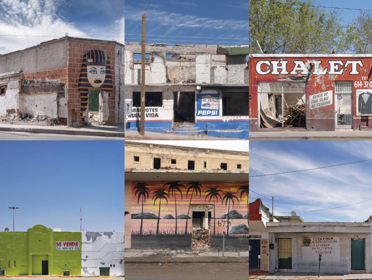 A artista registrou fachadas de edificações abandonadas por conta da violência em Ciudad Juárez