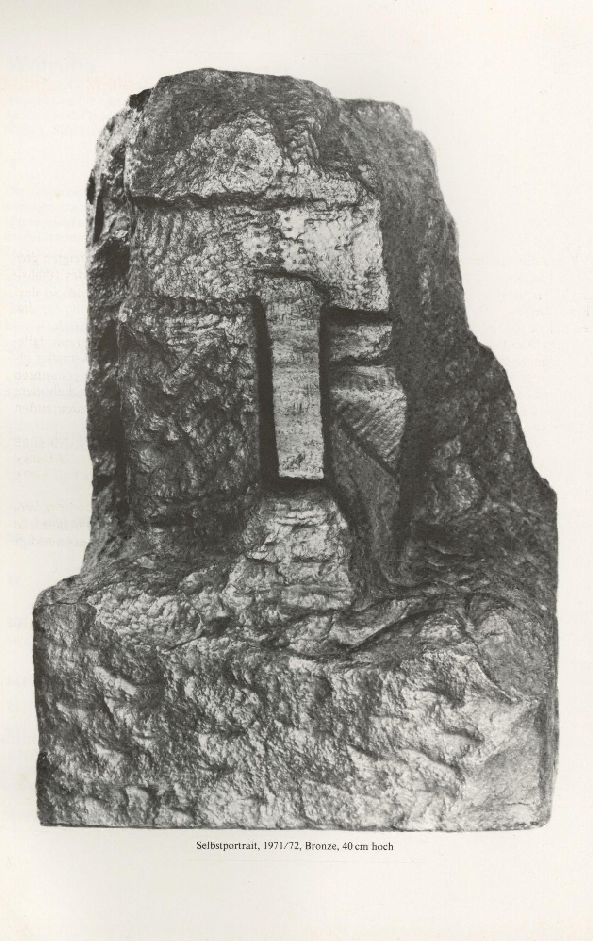 Fritz Wotruba, 'Autorretrato', 1971-1972, bronze, 40 cm