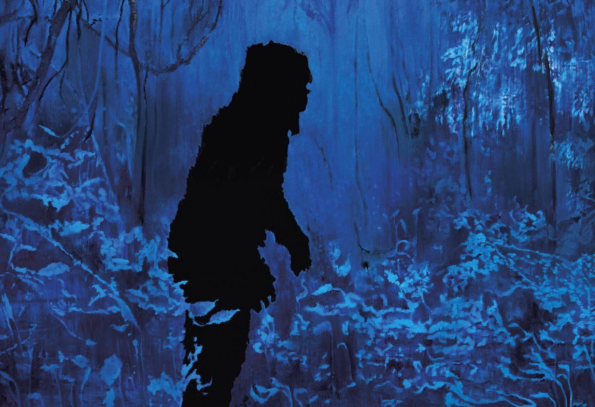 O ancestral, pintura da série 'Animattack', sintetiza caráter de mistério recorrente na obra do artista