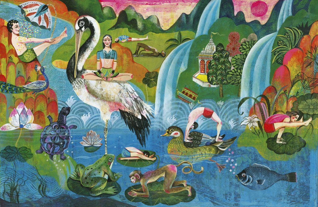 O livro 'Little gurus' faz uma introdução ao universo  da ioga através das ilustrações