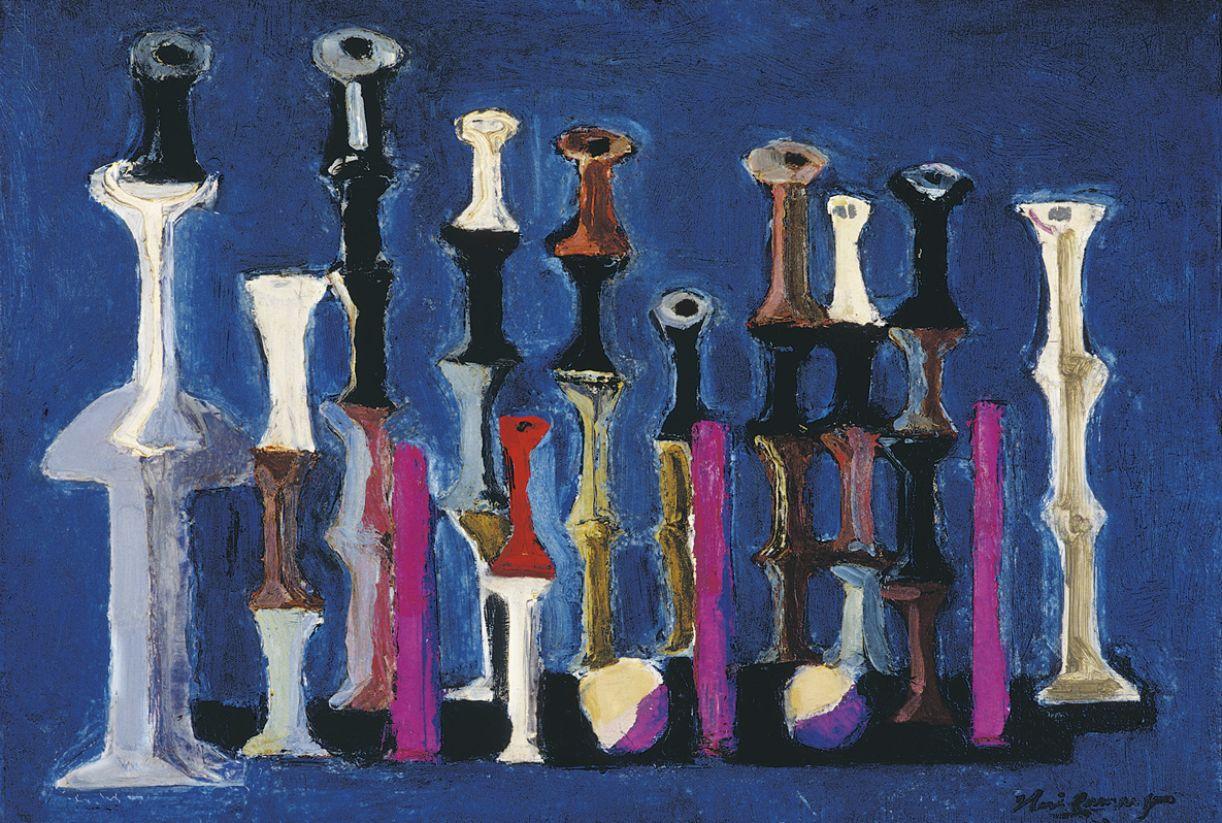 'Carretéis' é a série característica de uma das fases da obra do artista, de 1950 a 1970