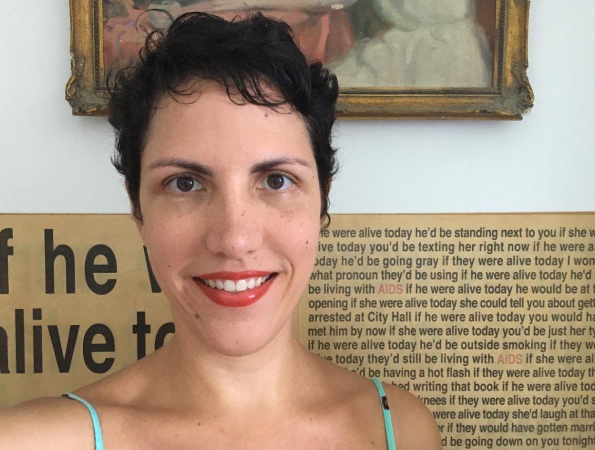 A artista e pesquisadora Cecilia Urioste, uma das facilitadoras da oficina