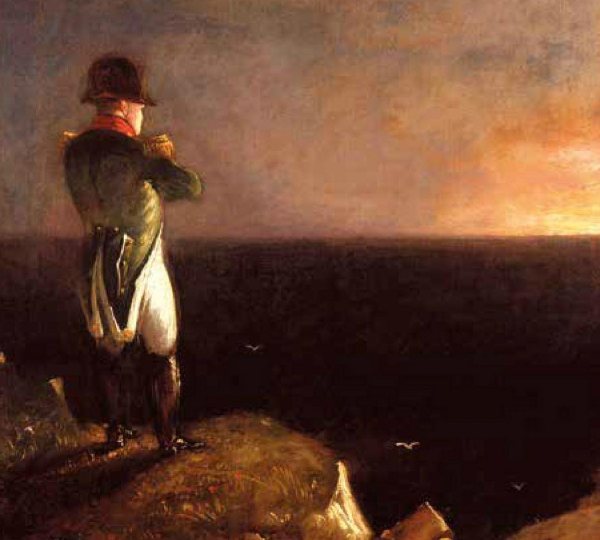 Napoleão: dos muitos retratos do imperador, este evoca o estado de exílio aqui referido
