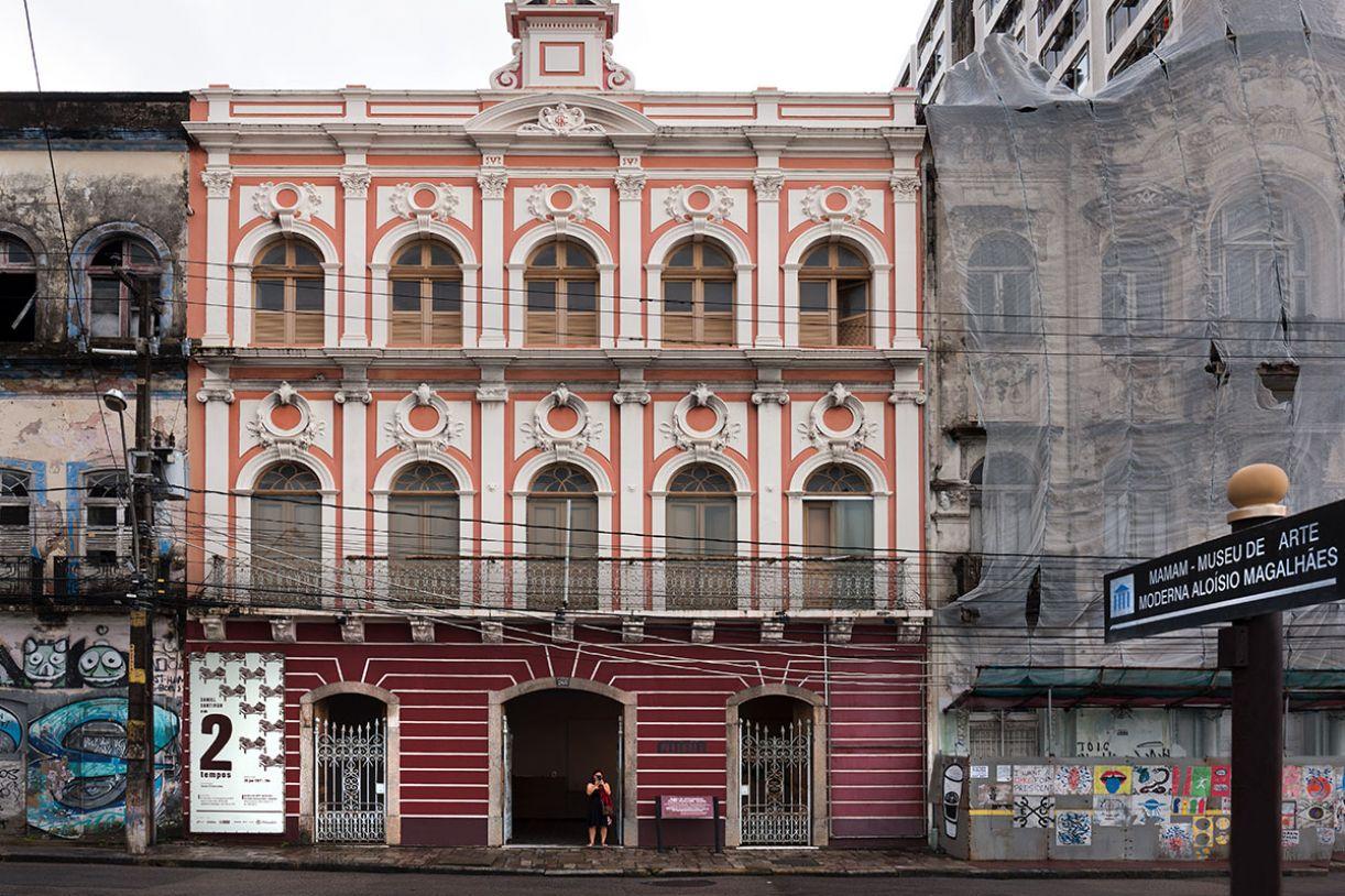 Fachada do Mamam, na Rua da Aurora, Boa Vista, Recife