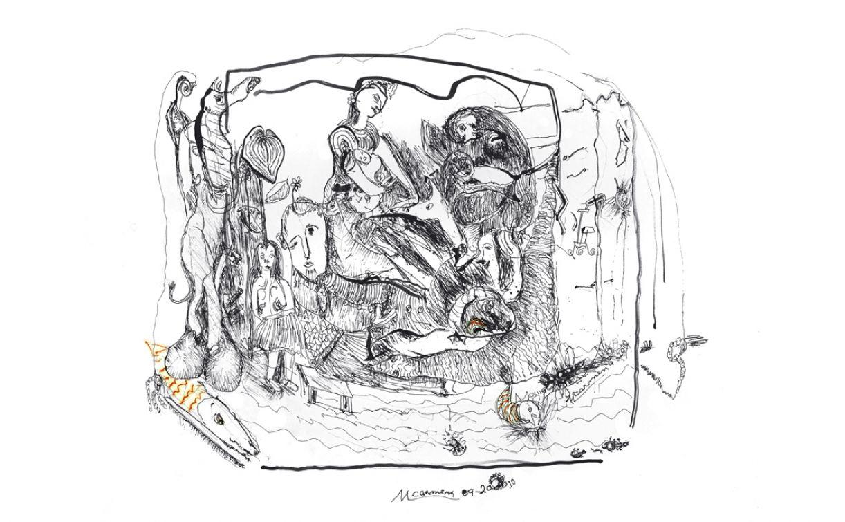 De um caderno de Maria Carmen, 28 x 34 cm, 2010