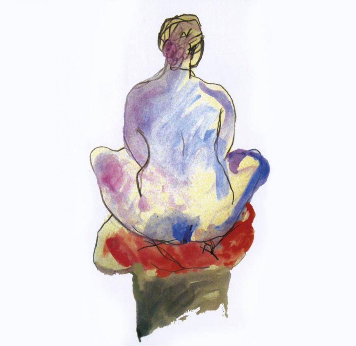 Modelo vivo: desenhos resultam do curso livre ministrado por Larte e o filho, Rafael, em 2013