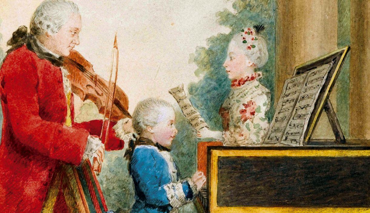 Aula do compositor alemão Mozart, que teria a capacidade de reconhecer tons nos barulhos desde os 7 anos