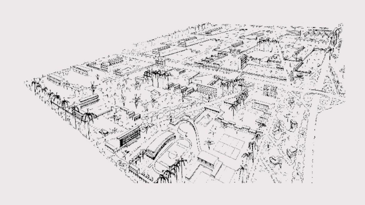 Plano urbanístico da Cidade Universitária, de autoria de Mario Russo