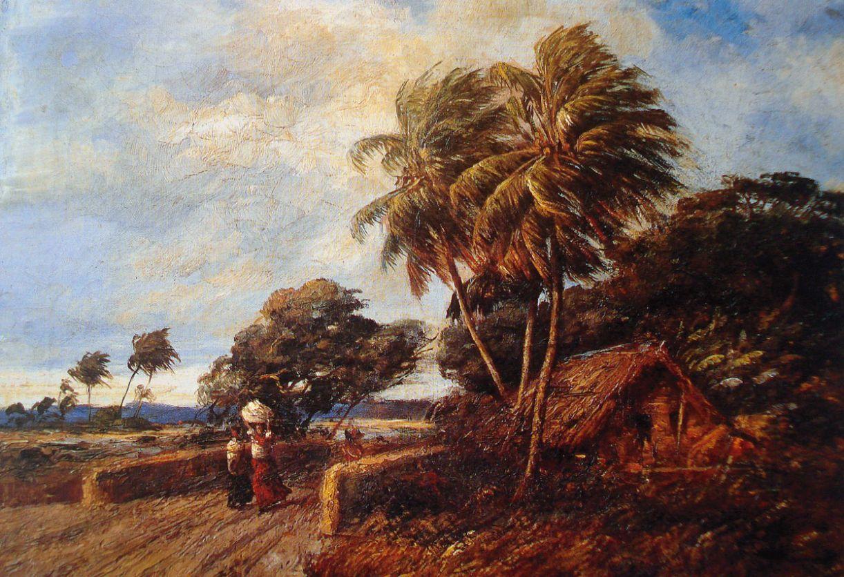 """A tela 'Ventania' (1902) colaborou com a sua fama de """"intérprete da paisagem nordestina"""""""