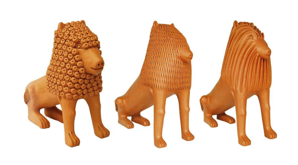 Marcos de Nuca segue a tradição de esculpir leões iniciada por seu pai