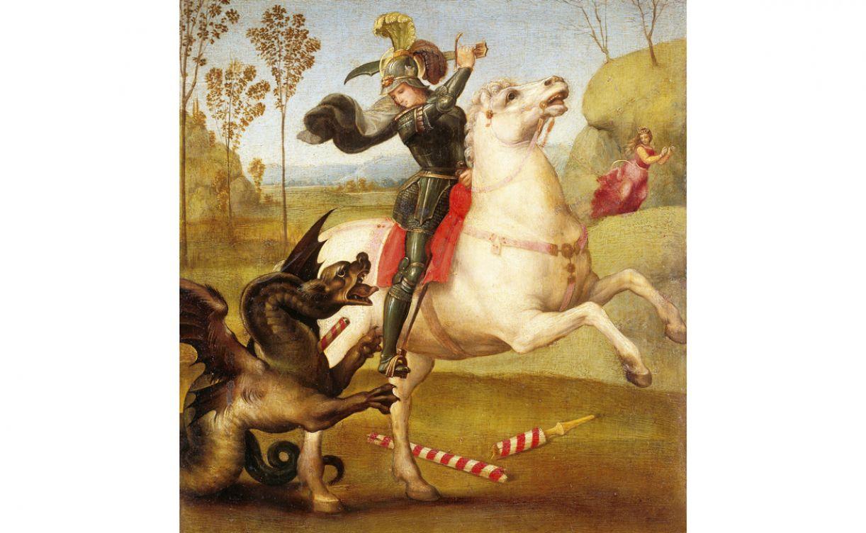 A história de São Jorge surgiu na Idade Média, quando a criatura tornou-se um símbolo do mal