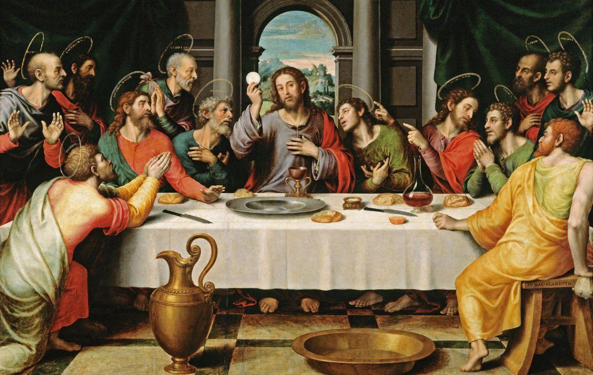 Tela de Juan Junes representa a celebração do encontro de Jesus com os apóstolos
