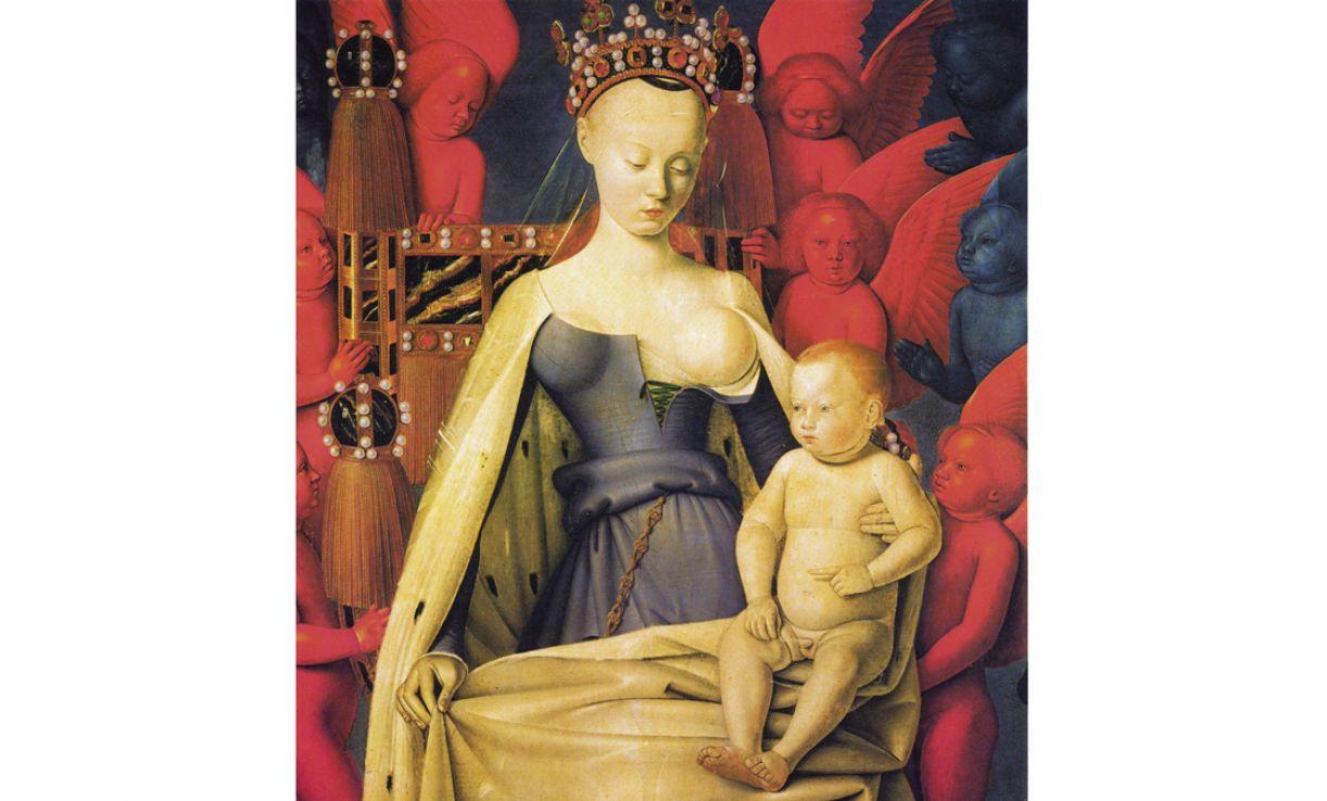 'A Virgem com o Menino e anjos', de Jean Fouquet. Óleo sobre madeira, 1450, 91 x 81 cm. Museu de Belas Artes de Antuérpia