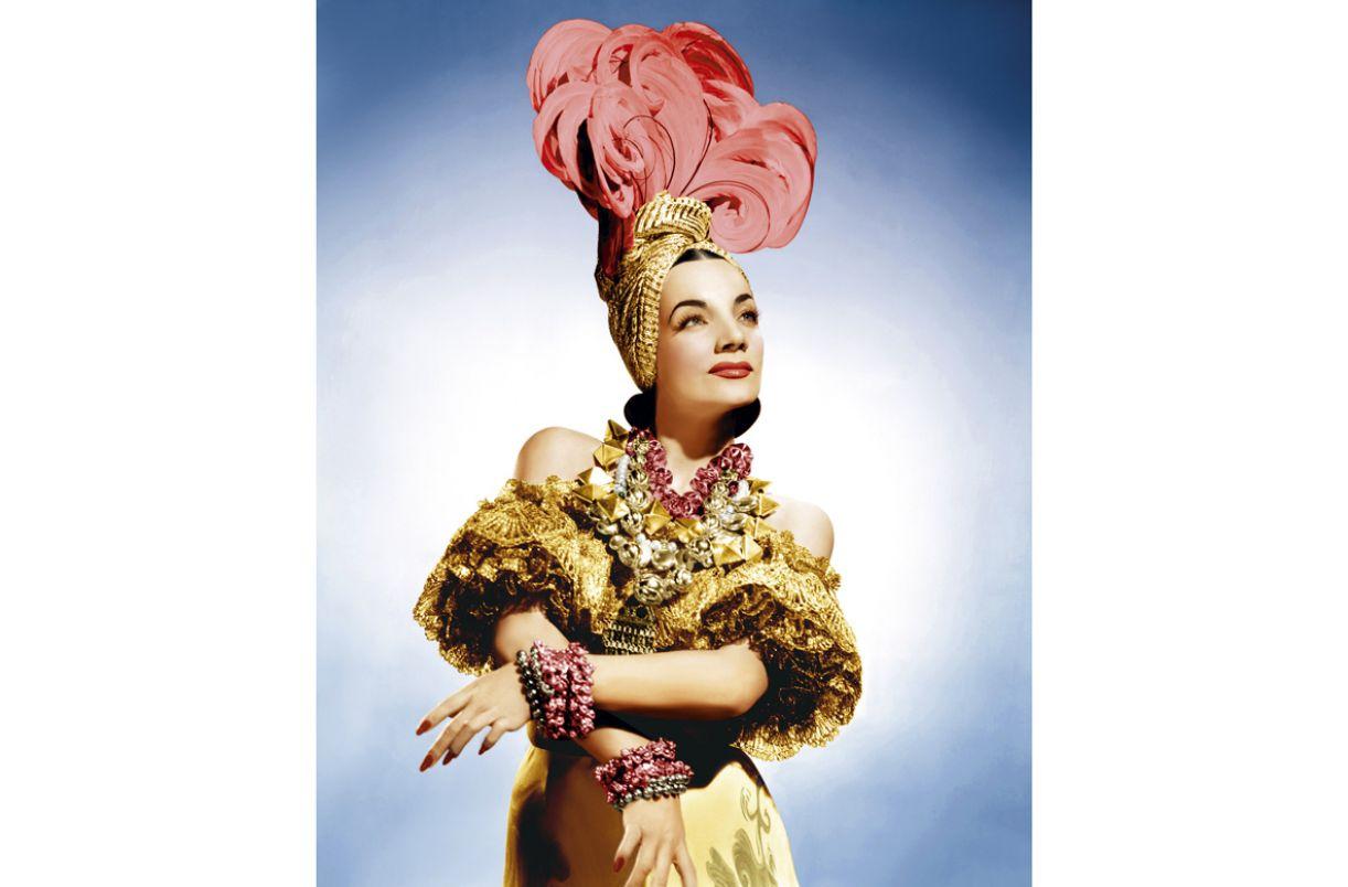 Hollywood disseminou mundialmente a imagem de Carmen Miranda, nos anos 1940