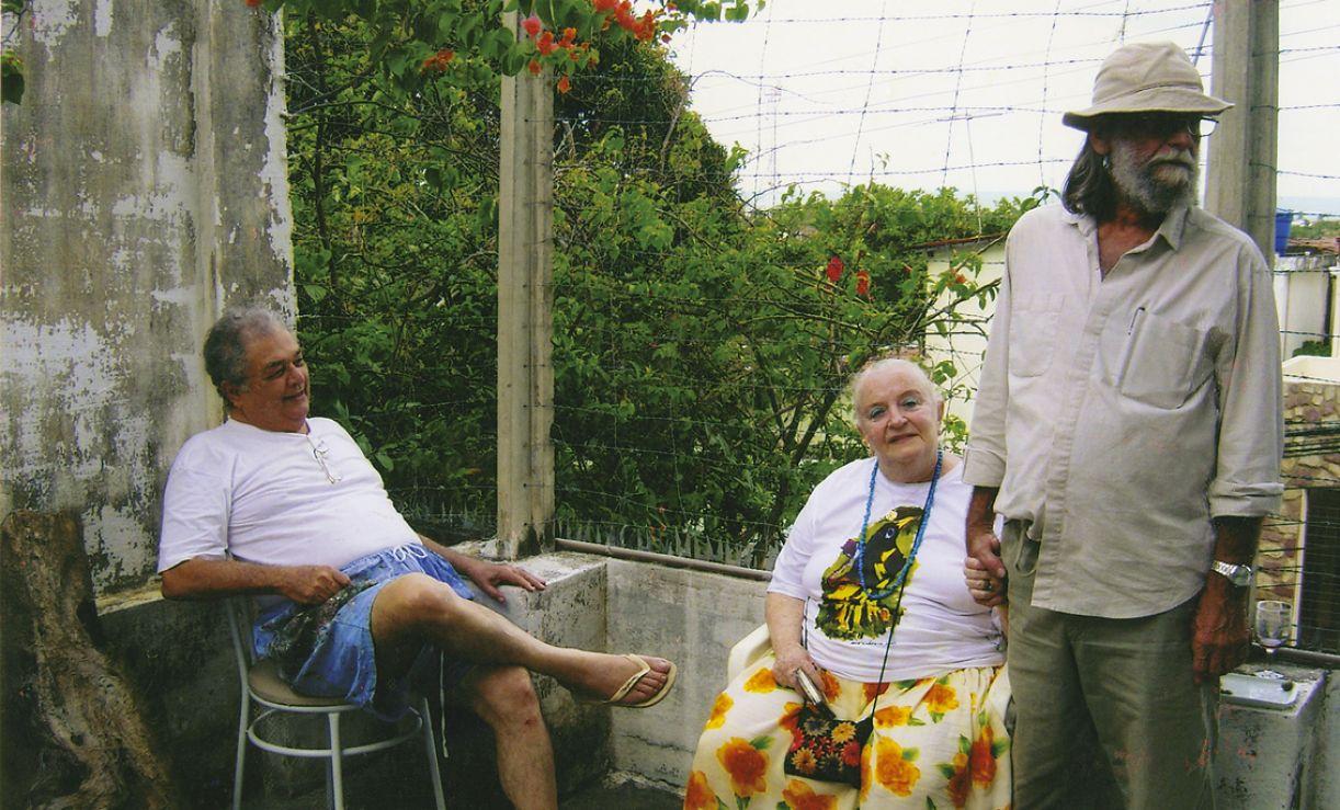 José Cláudio, Guita Charifker e Gilvan Samico, casa de José Cláudio, 2012.