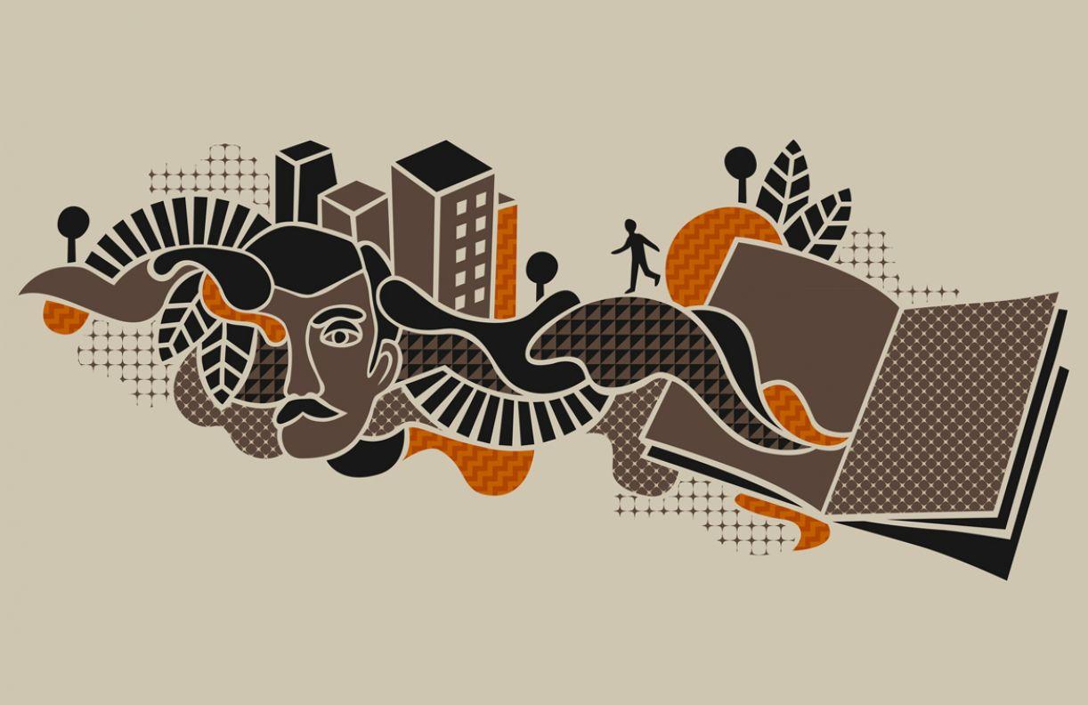 Ilustração para edição de novembro de 2012 do jornal literário 'Pernambuco'