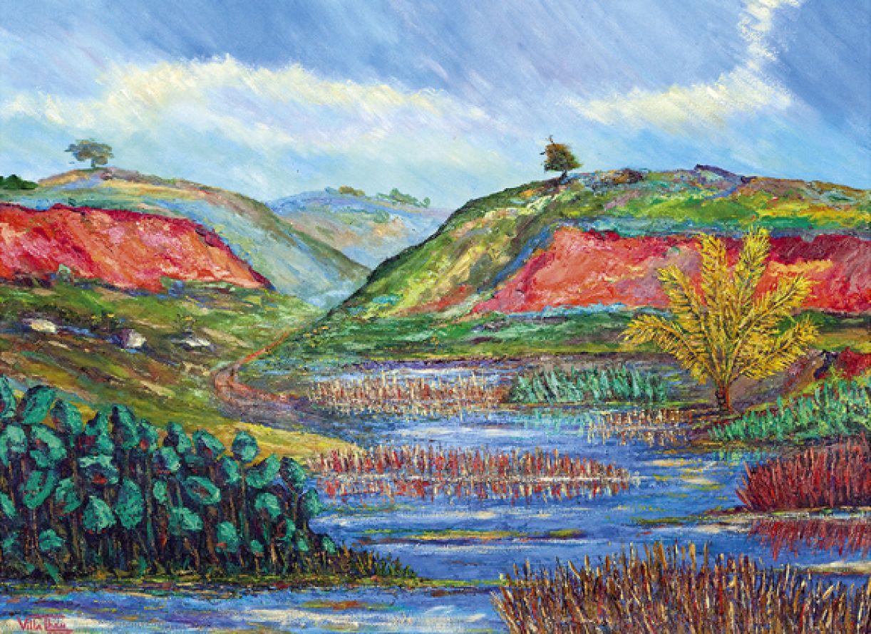 'Alagado de Suape'. Acrílico sobre tela, 89 x 120 cm, 2009