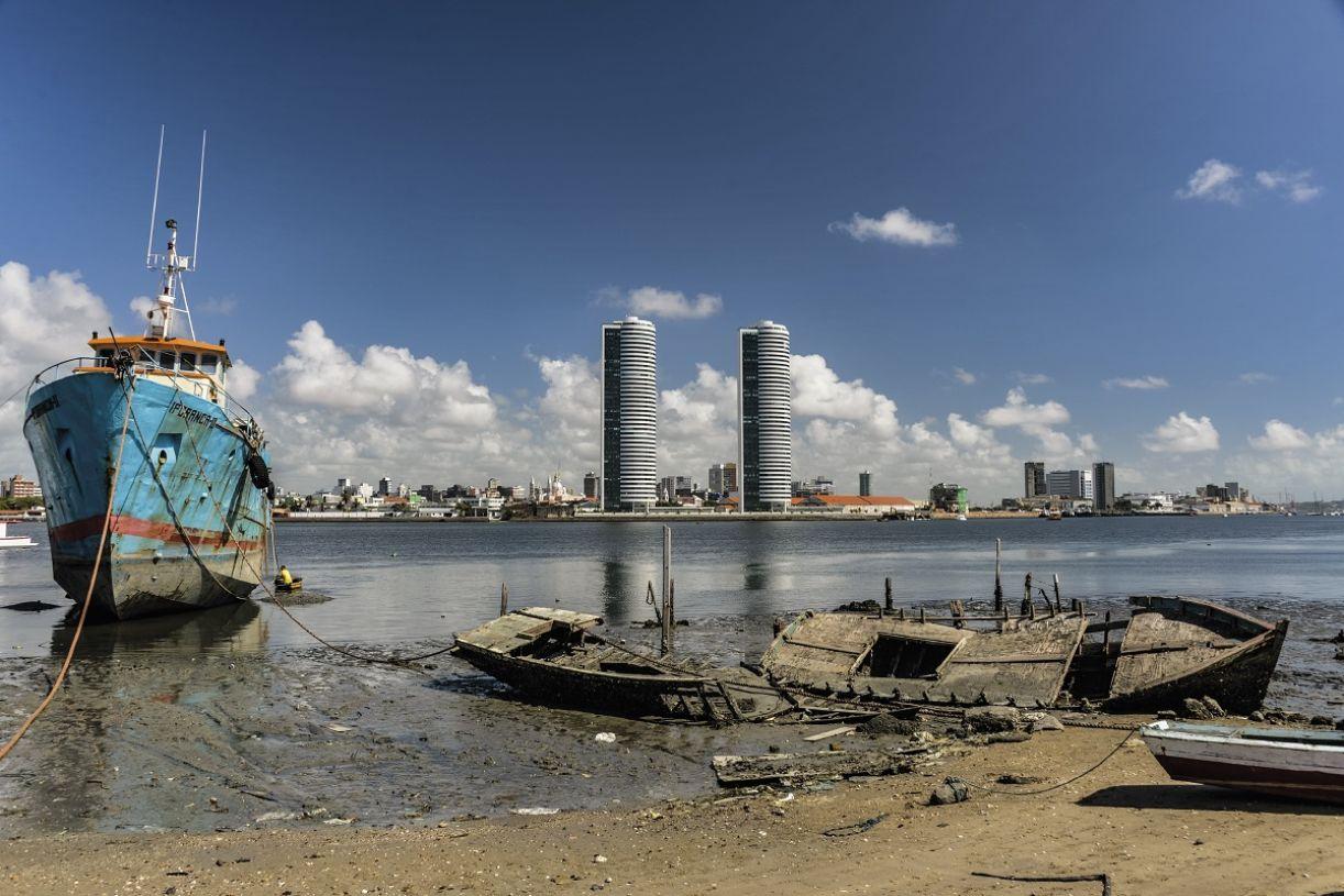 Uma das fotografias da obra 'Recife', no bairro de Brasília Teimosa