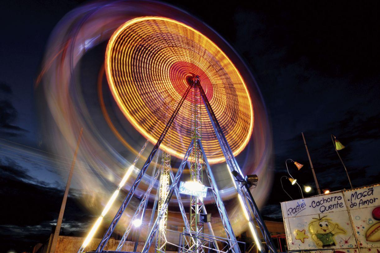 A roda-gigante se mantém como o emblema dos parquinhos