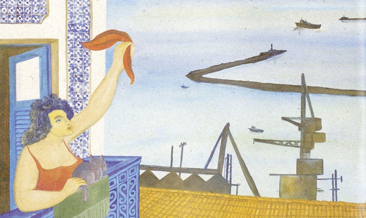 'Mulher no porto' (óleo sobre tela, 70 x 90cm), de 1998