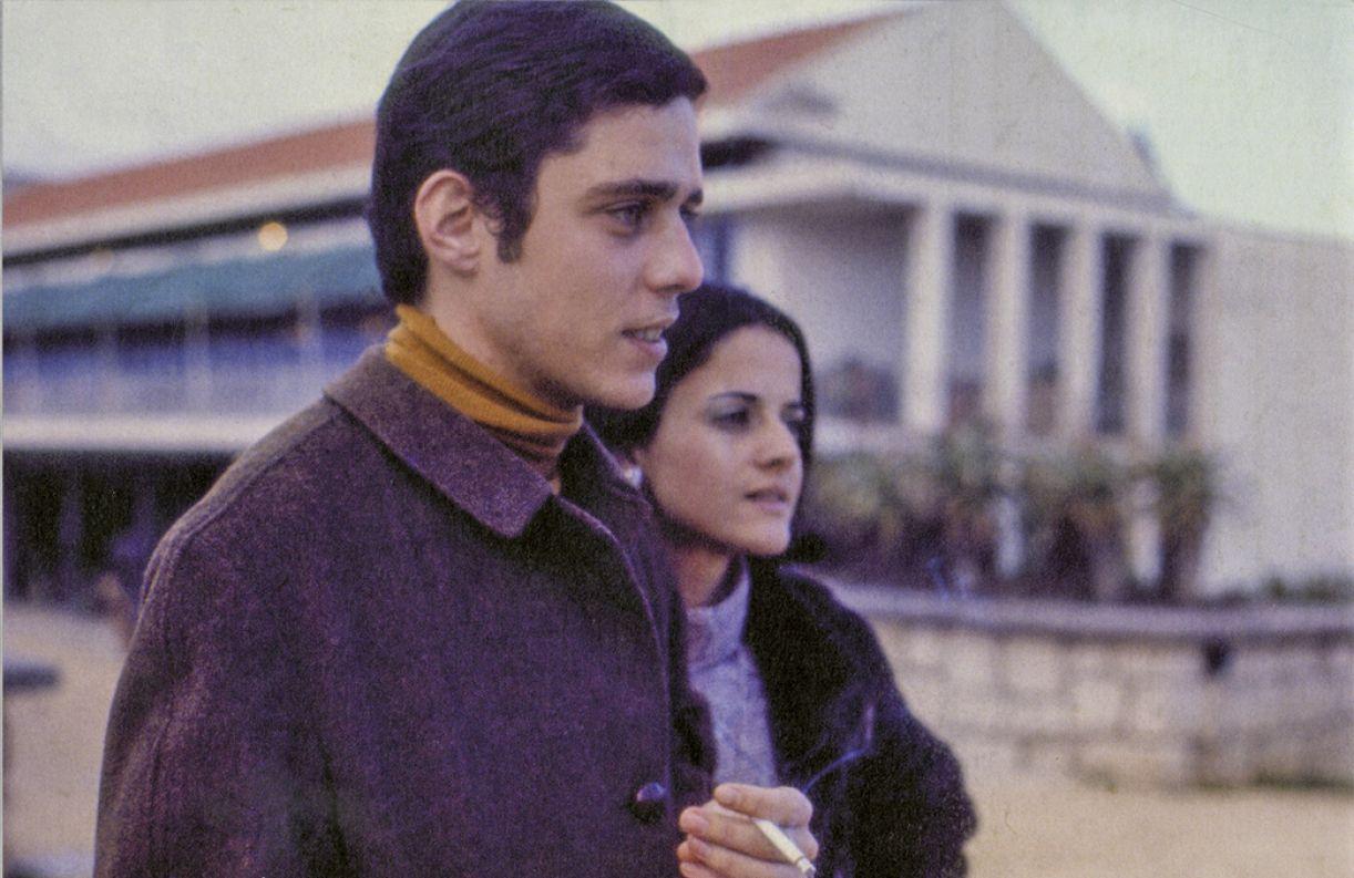 Chico e Marieta Severo, em 1969, no autoexílio em Roma, onde nasceu a filha Silvia