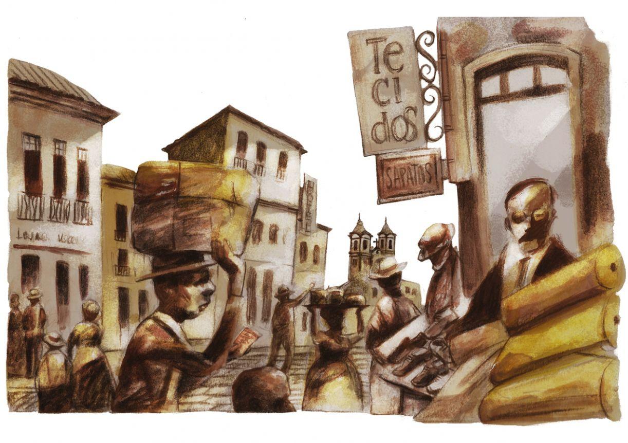 Ilustração para o livro 'Pastinha: o menino que virou mestre de capoeira', de José de Jesus Barreto