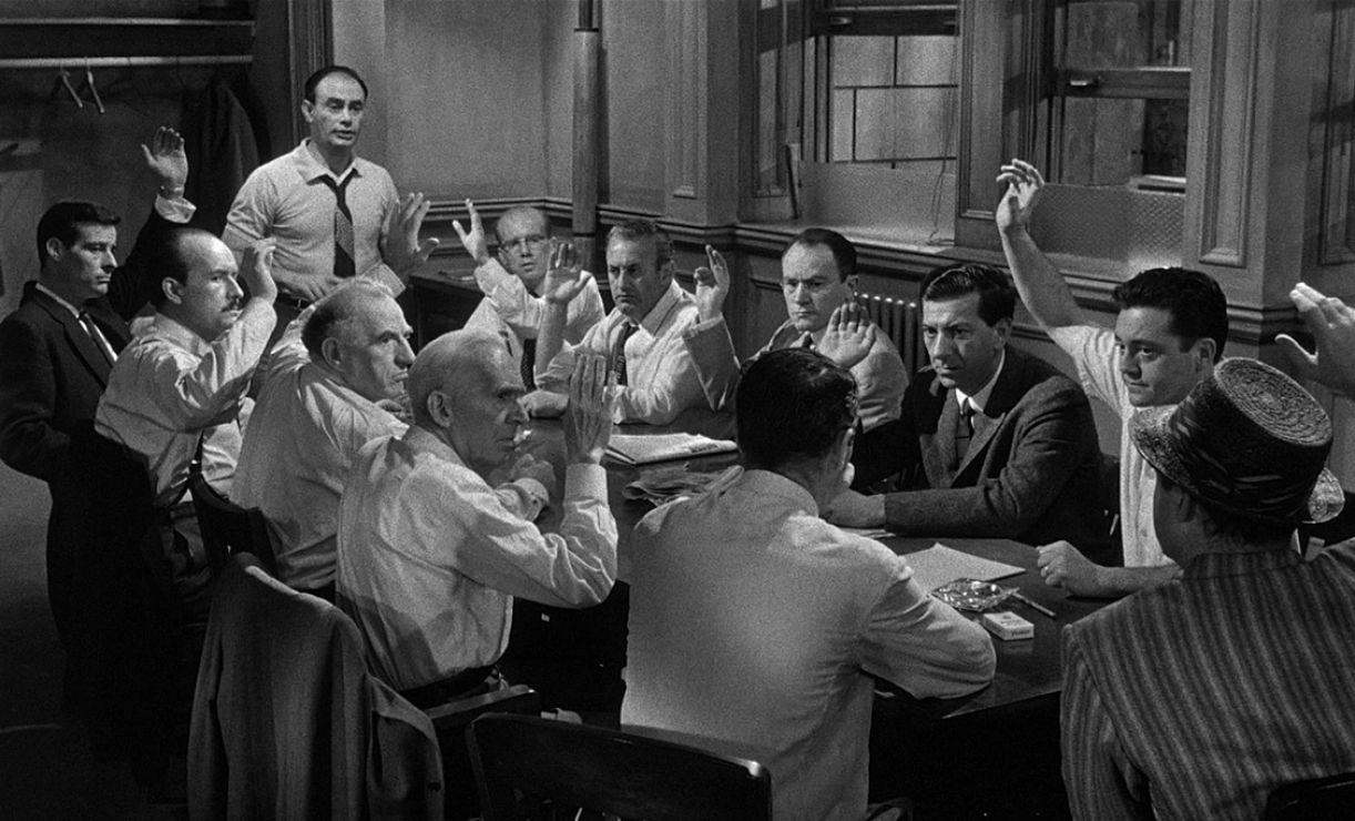 Cena do clássico '12 homens e uma sentença', de Sidney Lumet, 1957