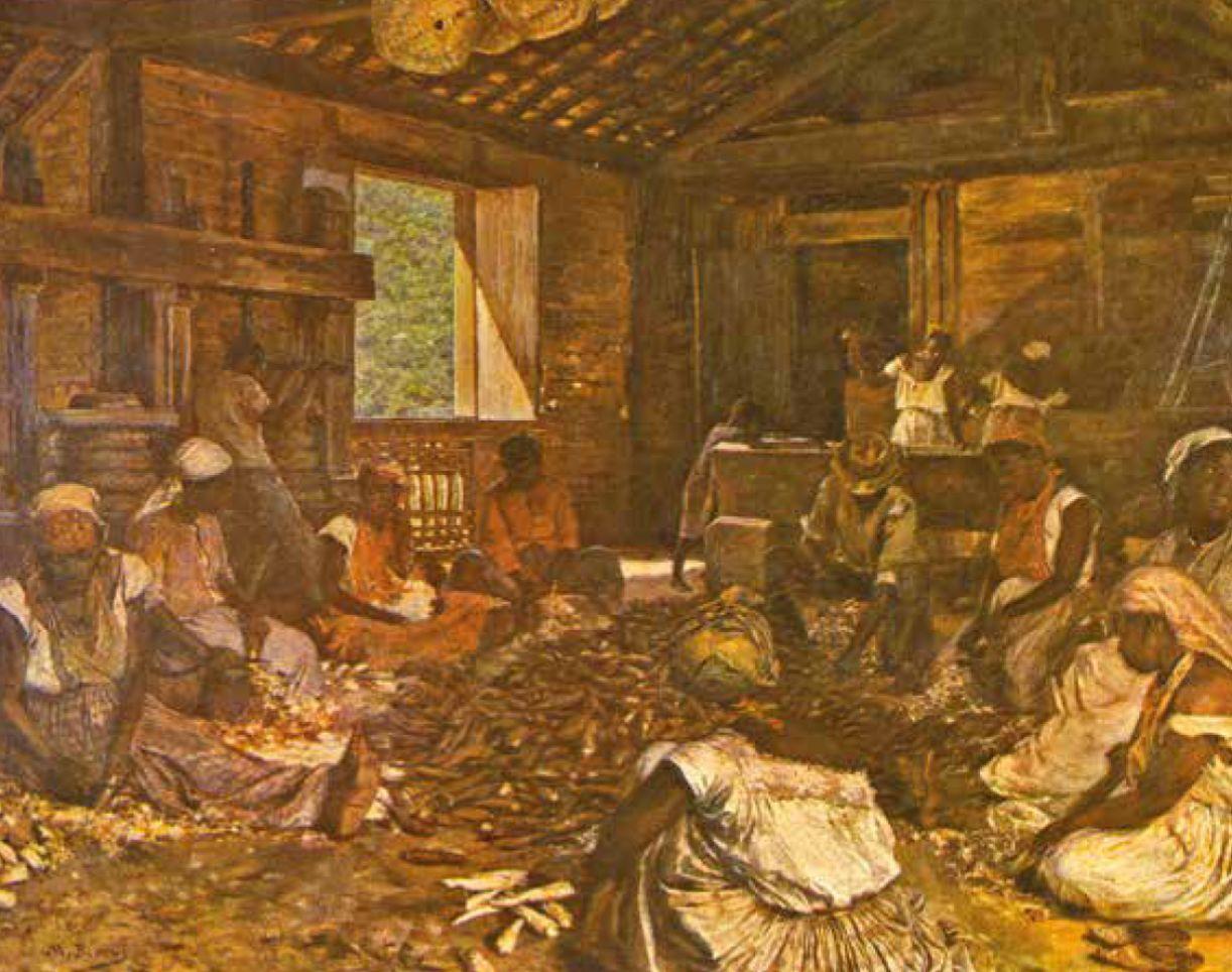 Casa de farinha: Modesto Brocos y Gomez (Santiago de Compostela, Espanha, 1852 - Rio de Janeiro, 1936, naturalizado brasileiro). 'Engenho de Mandioca', óleo sobre tela, 1892. Museu Nacional de Belas