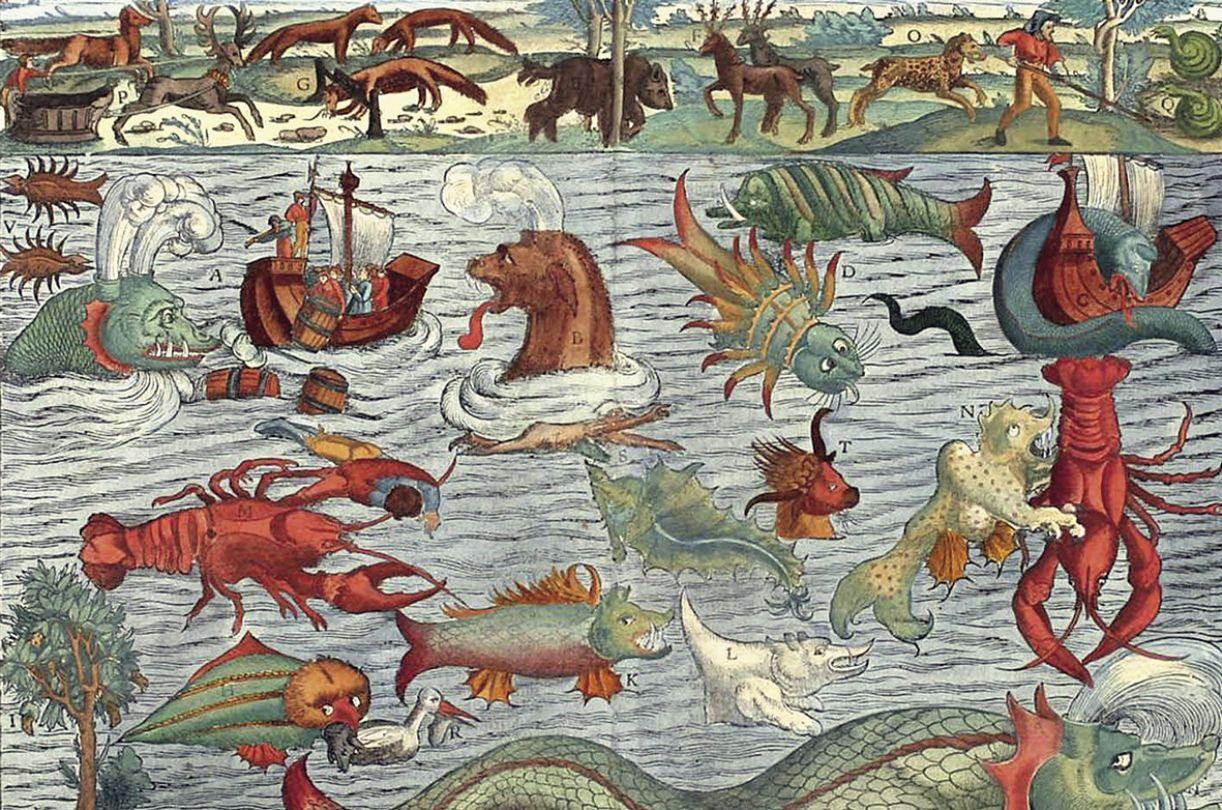 O fantástico medieval relacionado a seres que habitavam os mares foi imputado ao Novo Mundo