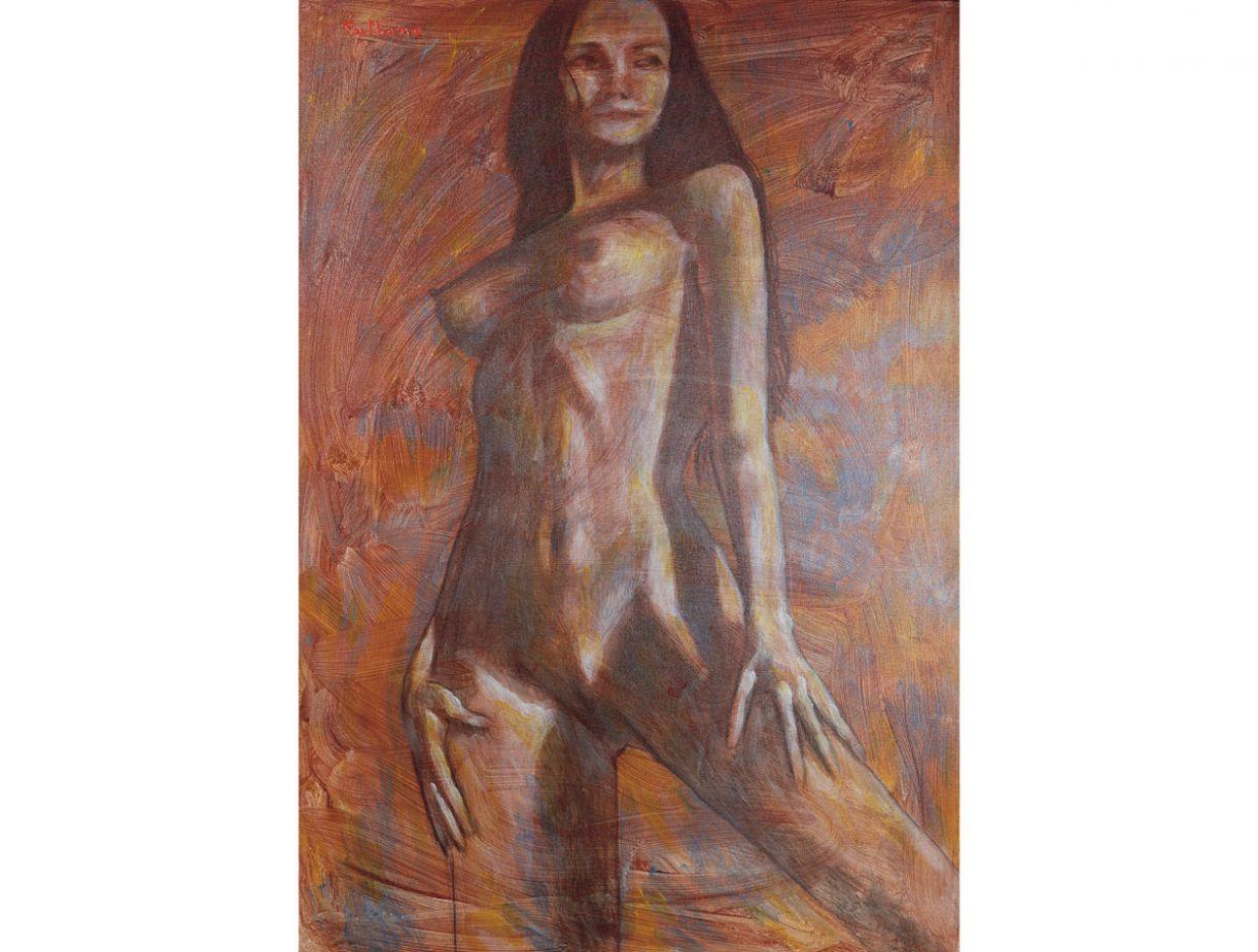 'Camila', de Plínio Palhano. Acrílica sobre tela, 142 x 117 cm, 2008