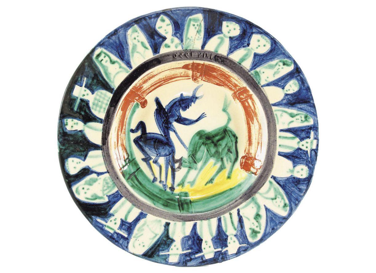 Cêramica pintada por Pablo Picasso
