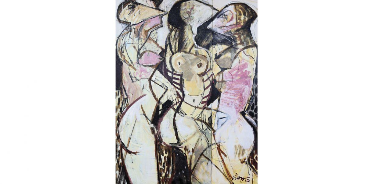 'Mulheres', de José Carlos Viana. Acrílico sobre tela, 120 x 90 cm, 2012